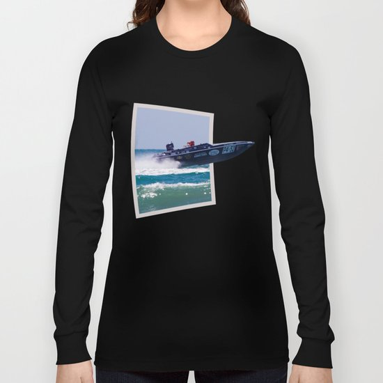 Offshore Addiction Speeds Out Of Frame Long Sleeve T-shirt