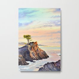 Lone Cypress Tree Pebble Beach California Metal Print