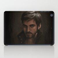 "captain hook iPad Cases featuring OUAT - Killian Jones - Captain Hook by Barbara ""Yuhime"" Wyrowińska"