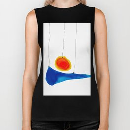blue and orange Biker Tank