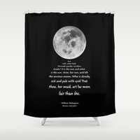 shakespeare Shower Curtains featuring Moon Bridge Shakespeare by GrandeDuc