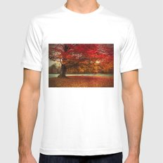 Finest fall Mens Fitted Tee MEDIUM White