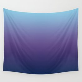 Ombre Blue Ultra Violet Gradient Pattern Wall Tapestry