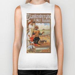 1890s Blankenberge North Sea beach travel Biker Tank