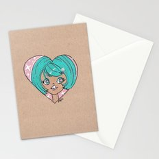 Little Cutie Heart Two Stationery Cards