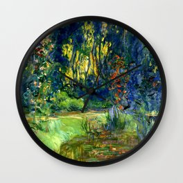 "Claude Monet ""Water lily pond at Giverny"", 1919 Wall Clock"