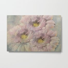Soft Painted Daisies Abstract Metal Print