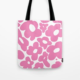 60s 70s Hippy Flowers Pink Tote Bag