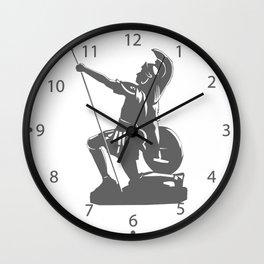 Kneeling Warrior Wall Clock