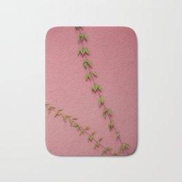 Bindweed on pink Bath Mat