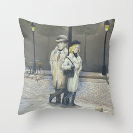 Midnight in Paris Throw Pillow