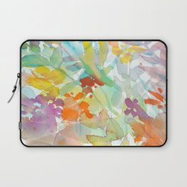 Watercolor spring flower mix Laptop Sleeve