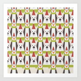 Penguins & Polar Bears (Patterns Please) Art Print
