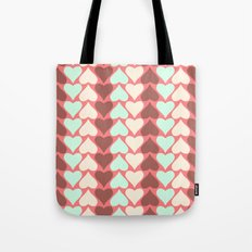 Creamy Hearts  Tote Bag