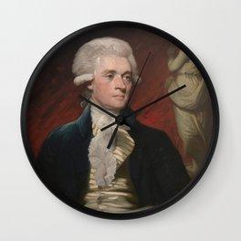 Thomas Jefferson Painting Wall Clock