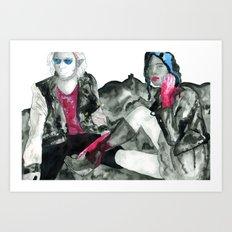 In Space! Art Print