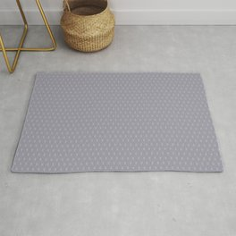 Pantone Lilac Gray Double Scallop Wave Pattern Rug