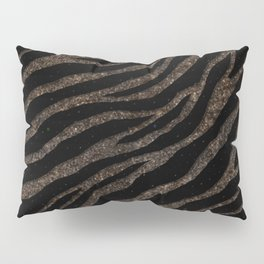 Ripped SpaceTime Stripes - Glitter Brown Pillow Sham