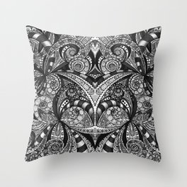 Drawing Floral Zentangle G6B Throw Pillow
