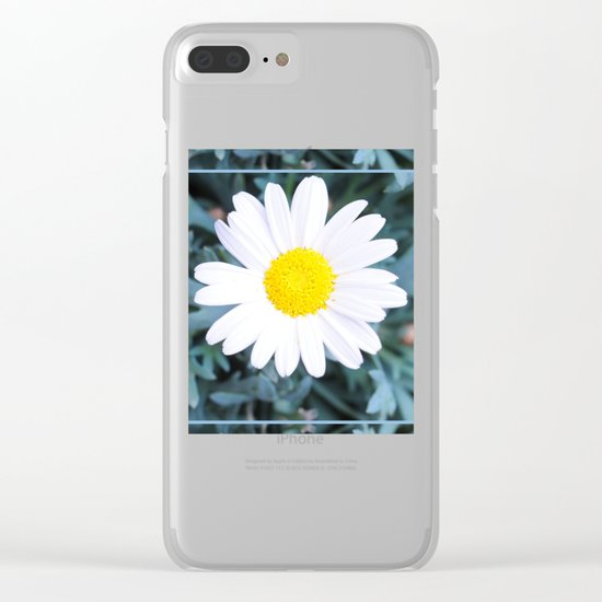 SMILE - Daisy Flower #1 Clear iPhone Case