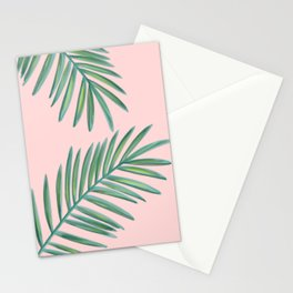 Pink Palms Tropical Vibes Stationery Cards