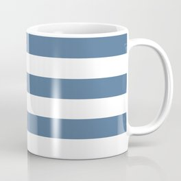 Blue and White Stripes Coffee Mug