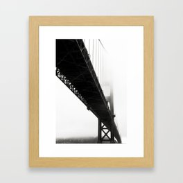 Black Bridge Framed Art Print