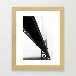 Black Bridge Framed Art Print