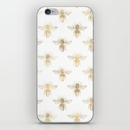 Gold Bee Pattern iPhone Skin