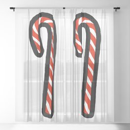 A Candy Cane Sheer Curtain