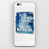 klaine iPhone & iPod Skins featuring klaine stan 4eva by Tiny M