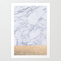 marble Art Prints featuring MARBLE by Monika Strigel