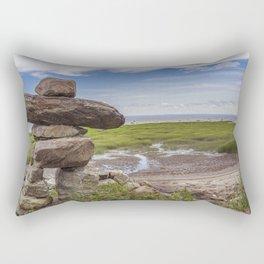 INUKSHUK near St laurent river québec canada Rectangular Pillow