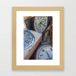 the clox box Framed Art Print
