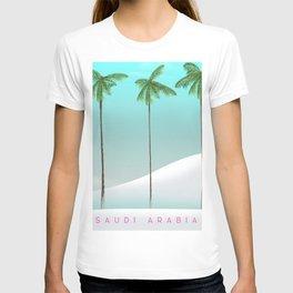 Saudi Arabia Travel poster T-shirt