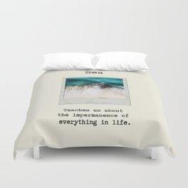 Small Emotional Dictionary: Sea Duvet Cover