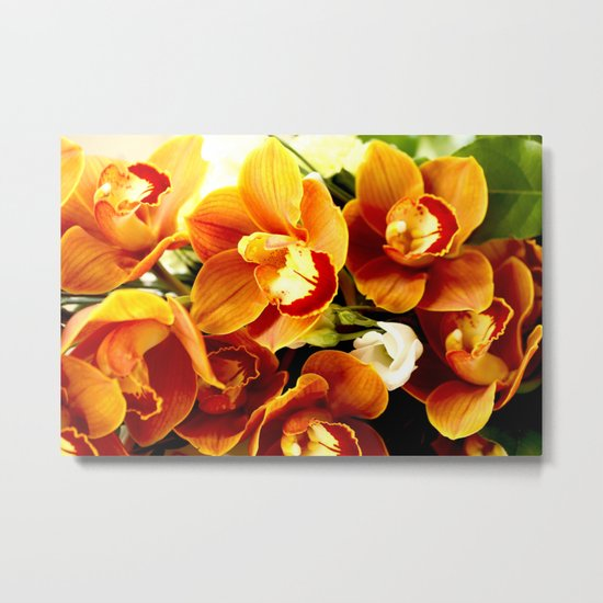 Orchid Corsage Metal Print