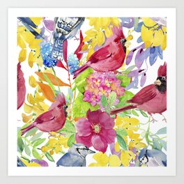 Lovely Birds Art Print