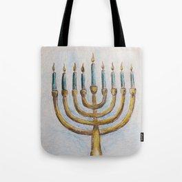 Hanukkiah MM180920a Tote Bag