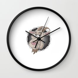 """""""Relax I've goat this"""" funny hilarious tee design for you and your friends and your family! Wall Clock"""