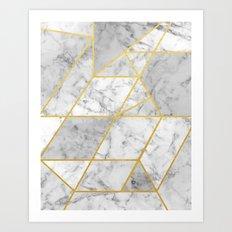Shattered Marble 2 Art Print