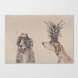 pineapple head Canvas Print