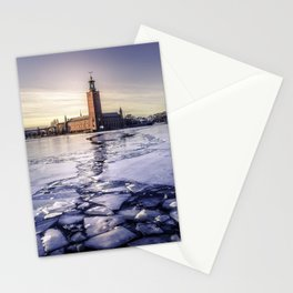 Stockholm City Hall in Winter Stationery Cards