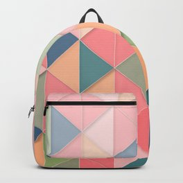 Geometric Retro Pink Pastel Pattern Backpack