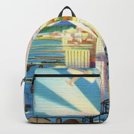 Pacific Northwest Seattle Washington Art Deco Advertising Portrait Backpack