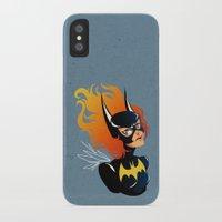 batgirl iPhone & iPod Cases featuring Batgirl by Станислава Коробкова