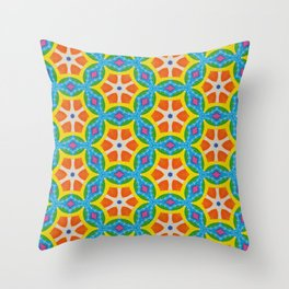 Fruity Retro Tropic Throw Pillow
