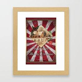 Christmas Vintage 143 Framed Art Print