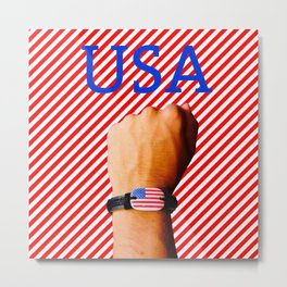 US Patriot Metal Print