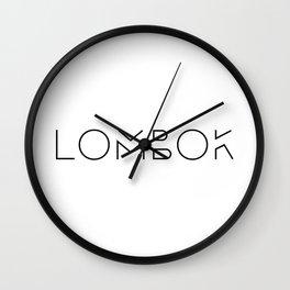 Lombok Typo Wall Clock